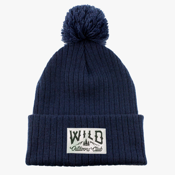 WILD - KNIT POM TOQUE - NAVY