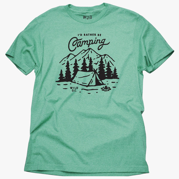 """I'D RATHER BE CAMPING"" - MEN'S TEES"