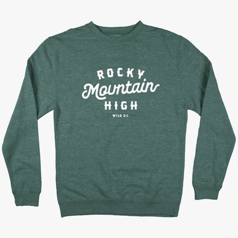 """Rocky Mountain High"" CREW NECK SWEATSHIRTS"