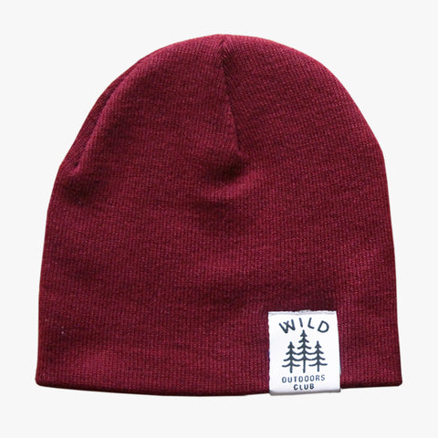 WILD - DOUBLE SIDED KNIT TOQUE / BURGUNDY