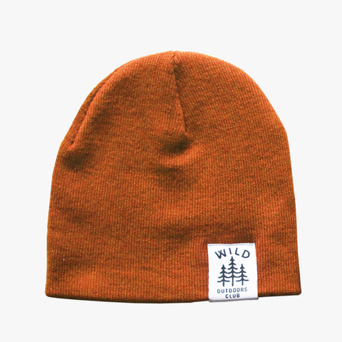 WILD - DOUBLE SIDED KNIT TOQUE / BURNT ORANGE
