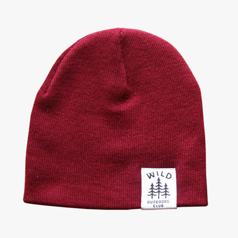 WILD - DOUBLE SIDED KNIT TOQUE / CRANBERRY