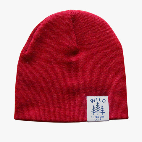 WILD - DOUBLE SIDED KNIT TOQUE / RED