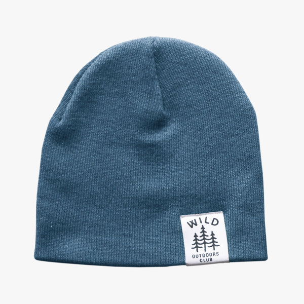 WILD - DOUBLE SIDED KNIT TOQUE / STEEL BLUE
