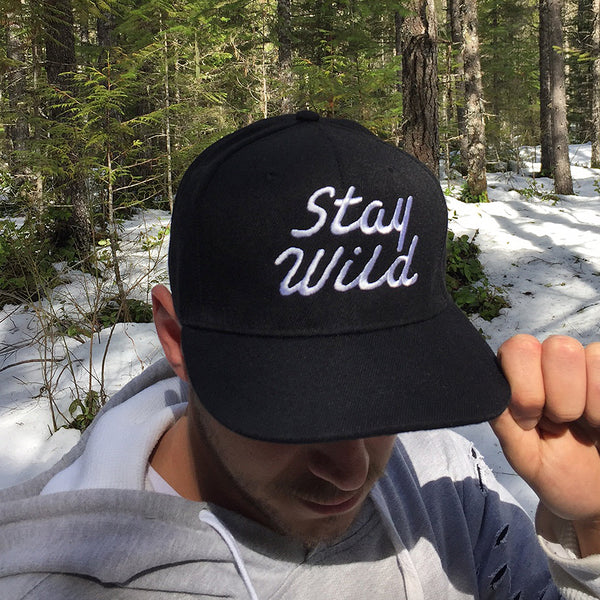 """STAY WILD"" - SNAPBACK HAT - BLACK"