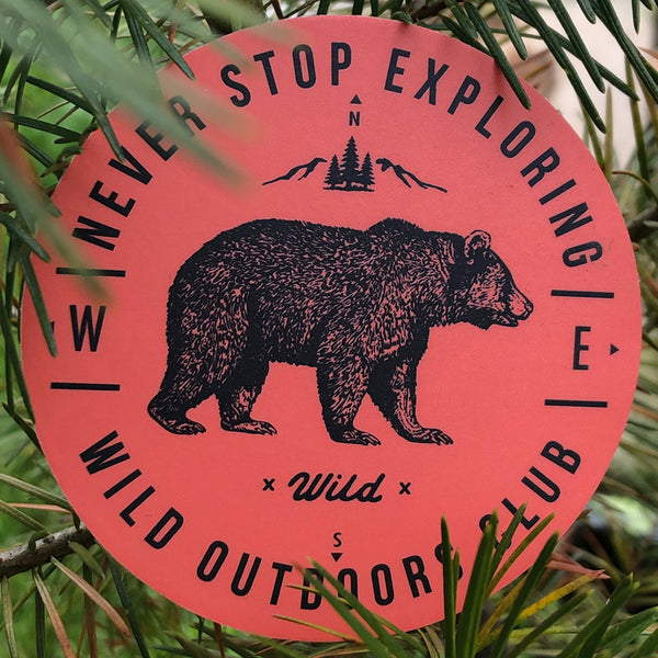 """NEVER STOP EXPLORING"" STICKERS"