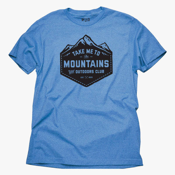 """TAKE ME TO THE MOUNTAINS"" - MENS TEES"