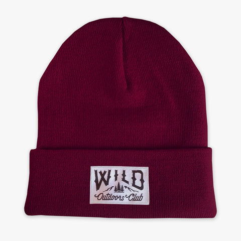 "WILD - ""WINTER KNIT"" TOQUE / BURGUNDY"