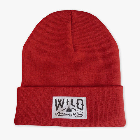 "WILD - ""WINTER KNIT"" TOQUE / RED"