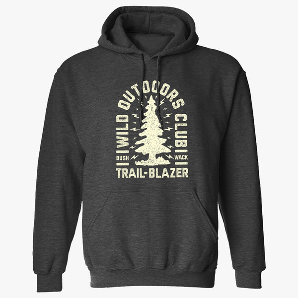 "WILD ""TRAILBLAZER"" MENS PULLOVER - CHARCOAL HEATHER"