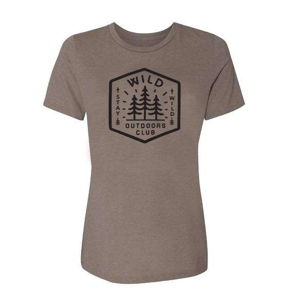 """TRAILMARKER"" - WOMEN'S  TEE - PEBBLE GREY"