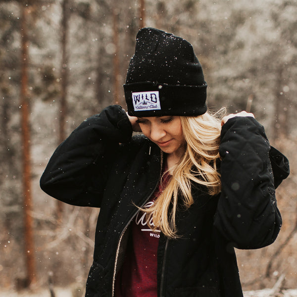 "WILD - ""WINTER KNIT"" TOQUE /  BLACK"