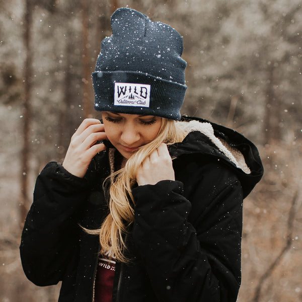 "WILD - ""WINTER KNIT"" TOQUE /  NAVY"