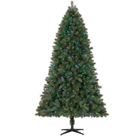 Feels Like Home 7.5' Spruce with Color-Changing Lights - Christmas Tree Package - 7.5' artificial Christmas tree package with lights, ornaments, skirt, star and tinsel - Rent-A-Christmas