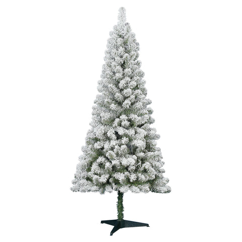 6' Pine, Unlit - Flocked