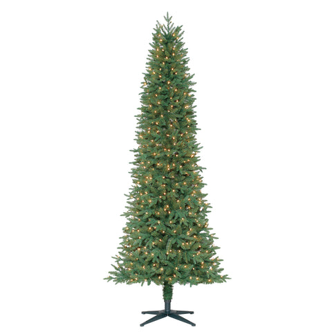 Feels Like Home Slim Fir XL with White Lights - Christmas Tree Package - 7.5' artificial Christmas tree package with lights, ornaments, skirt, star and tinsel - Rent-A-Christmas