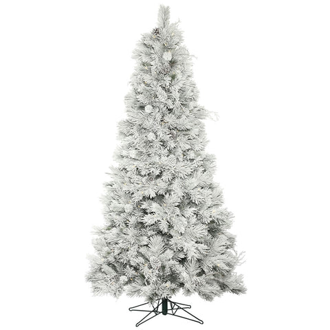 7.5' Icelandic Expedition Pine with White Lights - Christmas Tree Package - 7.5' artificial Christmas tree package with lights, ornaments, skirt, star and tinsel - Rent-A-Christmas