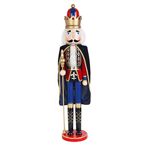 King and Scepter Nutcracker - Christmas Rental Package - 3' Heavy Wooden King and Scepter Nutcracker - Rent-A-Christmas