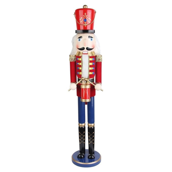 Traditional Drummer Nutcracker - Christmas Rental Package - 3' Heavy Wooden Traditional Drummer Nutcracker - Rent-A-Christmas