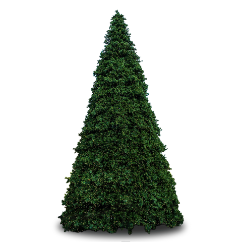20' Town Square Frame Tree with Warm White LED Lights - Christmas Tree Package - 20' artificial frame Christmas for outdoor use - Rent-A-Christmas