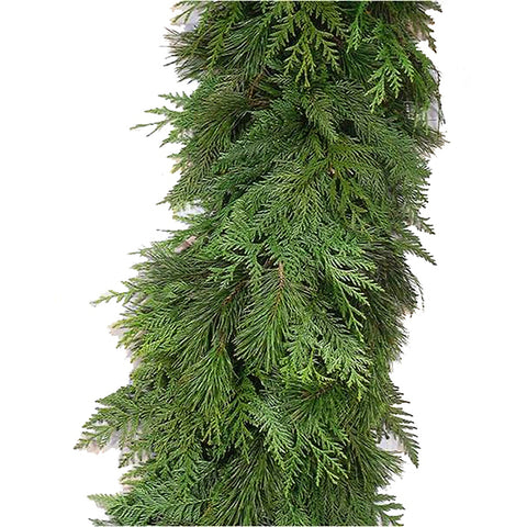 9' Fresh-Cut Enchanted Garland - Fresh-cut Christmas Garland - Rent-A-Christmas - Rent-A-Christmas
