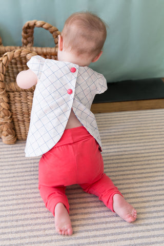 Charley Everyday Legging in Coral - Thimble - Pants - 2