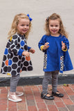Reversible Swing Tunic in Royal Dots