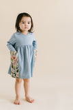 Playground Dress in Herb Sky