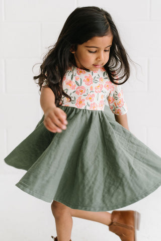 Twirl Dress in Meadow Blooms