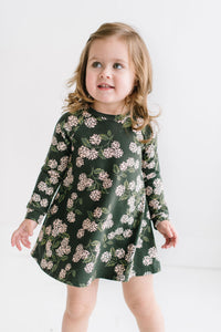 Swing Dress in Forest Blooms