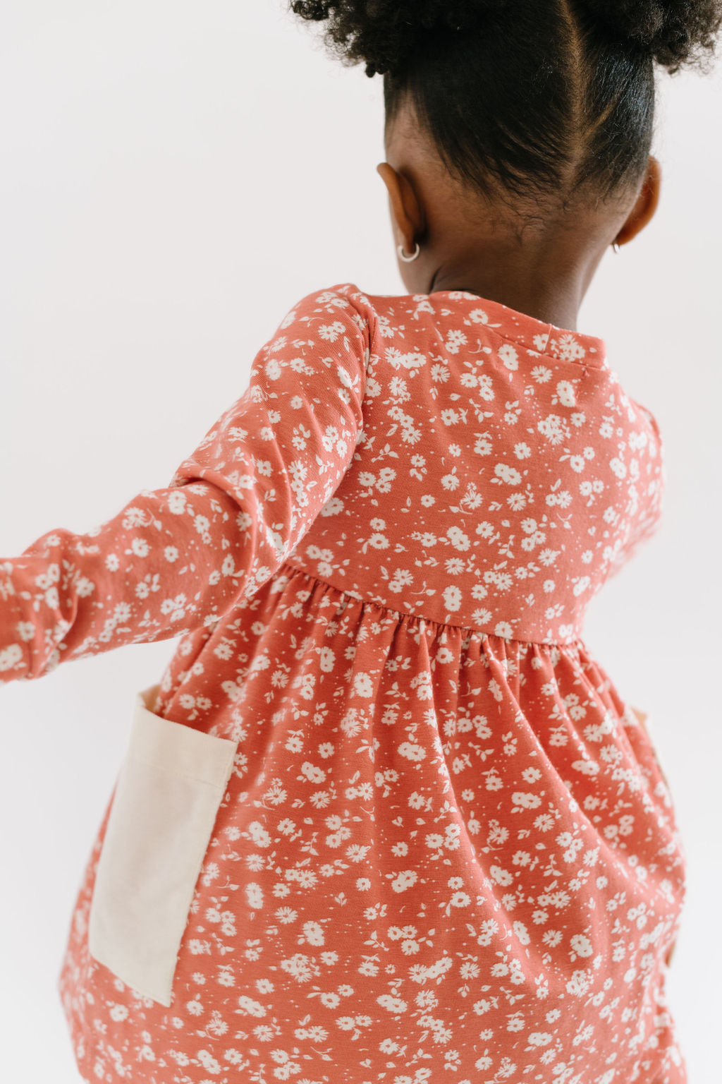 Playground Dress in Rust Blooms