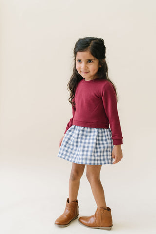 Sweatshirt Dress in Cranberry