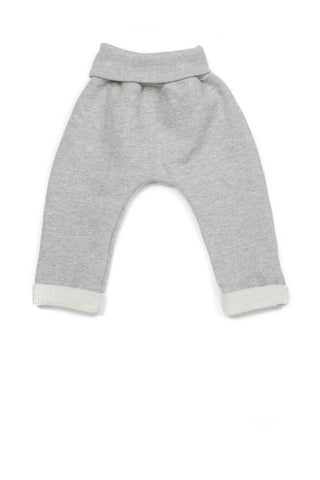 Riley Everyday Pant in Gray Herringbone Fleece - Thimble - Pants - 1