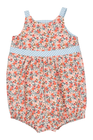 Knotted Romper in Sunset Floral - Thimble - Overall - 1