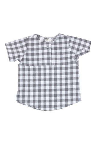 Summer Tunic in Gray Gingham - Thimble - Shirt - 1