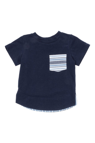 Pocket Tee in Navy - Thimble - Shirt - 1
