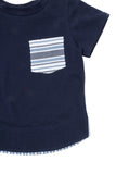 Pocket Tee in Navy - Thimble - Shirt - 4