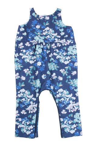 Playtime Overall in Denim Blooms