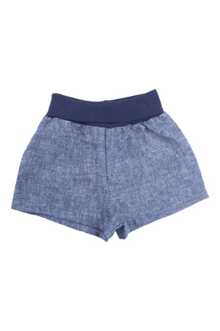 Easy Short in Navy Linen Blend