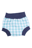 Bloomer Short in Aqua Gingham