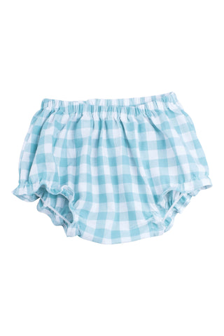 Flutter Bloomer in Aqua Gingham