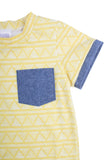 Cuffed Pocket Tee in Citron