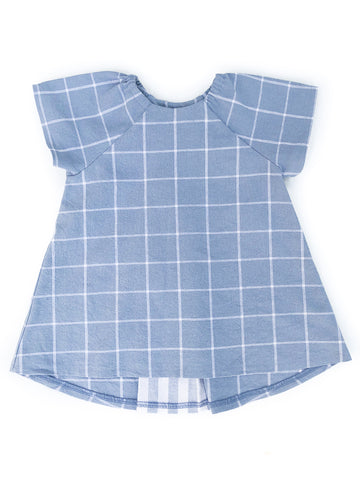 Pleated Swing Tunic in Prairie Sky
