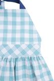 T-Back Dress in Aqua Gingham
