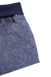 Everyday Short in Navy Linen Blend