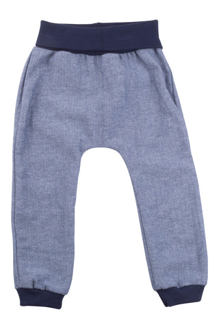 Jogger Pant in Navy Herringbone