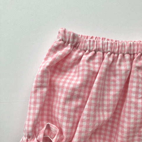 Flutter Bloomer in Pink Gingham