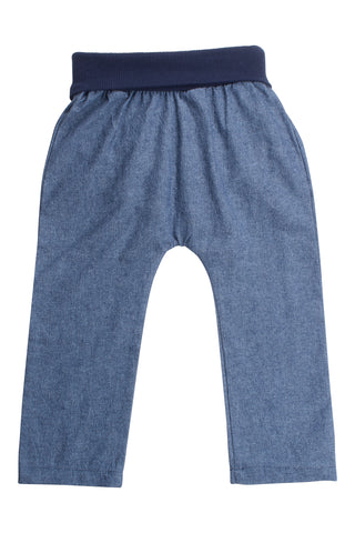 Everyday Pant in Dark Chambray
