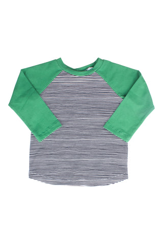 Baseball Tee in Grass Stripe