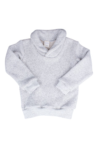 Shawl Collar Sweatshirt in Salt and Pepper